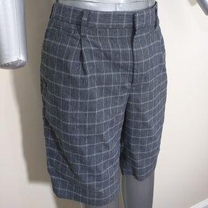 Banana Republic Emerson Checkered Shorts Gray 30